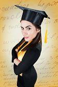 Portrait of confident woman on graduation day