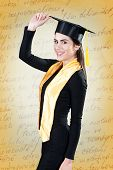Portrait of young woman on graduation day