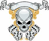 Skull With Double Dices