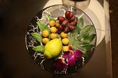 Fruits on the plate.