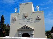 LORETO, ITALY - April 26, 2014: Polish War Cemetery In Loreto, Itraly