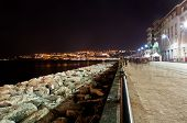 boardwalk in Naples, Italy