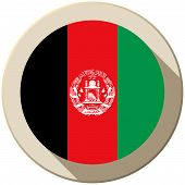 Afghanistan Flag Button Icon Modern