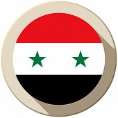 Syria Flag Button Icon Modern