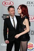 LOS ANGELES - JUN 7:  Chris Hardwick, Chloe Dykstra at the Spike TV's