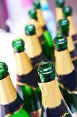 Many Empty Bottles Of Champagne
