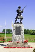 Statue Of Soldier Ww1 Royal Highlanders In Flanders Fields Belgium