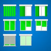 Icons for windows and louvers.