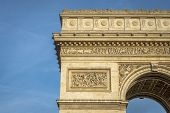 Architectural Detail Of Arc De Triomphe