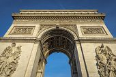 image of charles de gaulle  - Wide Angle of Arc de Triomphe in Paris - JPG