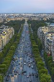 Champs-elysees As Seen From The Arc De Triomphe