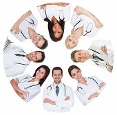 Low Angle View Of Diverse Group Of Doctors