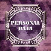 Personal Data Concept. Purple Vintage design.
