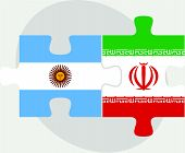 picture of iranian  - Vector illustration of Argentinian and Iranian Flags in puzzle isolated on white background - JPG