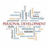 Personal Development Word Cloud Concept