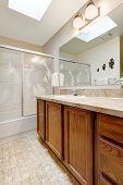 Bathroom With Skylight Ceiling