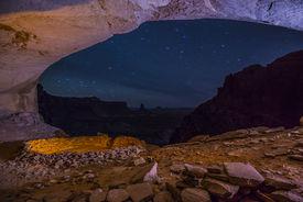 stock photo of cave-dweller  - Anasazi Indian Ruins At False Kiva Canyonlands  - JPG
