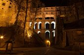 View Of The Castle Wing In Cesky Krumlov At Night