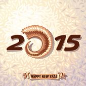 New Year 2015 on wool background