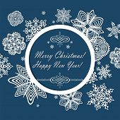Winter frame with seasonal greetings