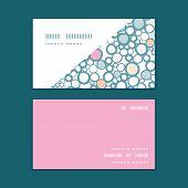 Vector colorful bubbles horizontal corner frame pattern business cards set
