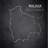 Bolivia map blackboard chalkboard vector