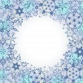 Ornamental Winter Frame With Ornate Snowflakes
