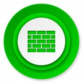 firewall icon, brick wall sign