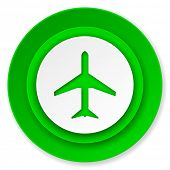 plane icon, airport sign
