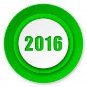 new year 2016 icon, new years symbol