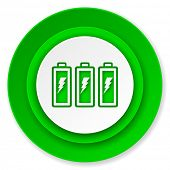battery icon, power sign