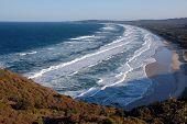 Ocean Waves In Byron Bay, Australia