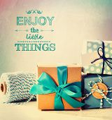 image of blue things  - Enjoy the little things with light blue handmade gift boxes - JPG