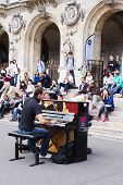 Street unidentified pianist