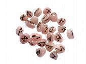 Rune Stones Pink And Gold