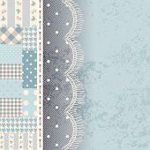 Patchwork with lace fringe