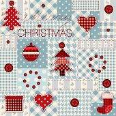 Christmas background in patchwork style.