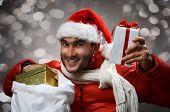 christmas present in hands