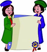 Certificate Of Graduation, Illustration