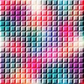 Relief mosaic on gradient background
