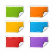 Colorful sticker set