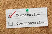 Cooperation versus Confrontation