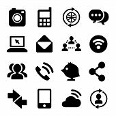 Communication and Internet Icons Set. Vector