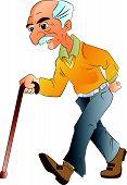 Old Man Walking, Illlustration
