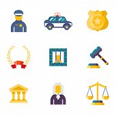 Flat law icons