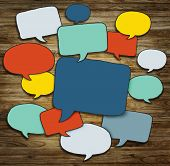 Multicolored Group of Speech Bubbles
