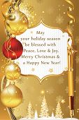 Greeting card for Christmas and New Year.