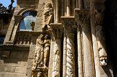 Monumental Detail Of Cathedral Santiago De Compostela