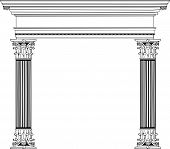 Greek Column And Arch
