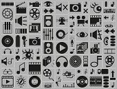 Music, Video, Photo Icons